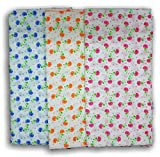 FeatherTouchKids Large Baby Swaddle Cloth, Infant Wrap, Receiving Blanket Combo Set Of 3, Multicolour ,44X44