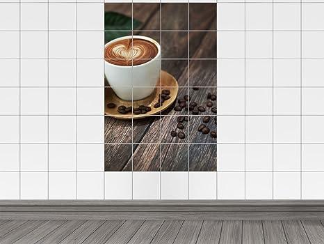 Piastrelle adesivo piastrelle stampa su latte caffè con una
