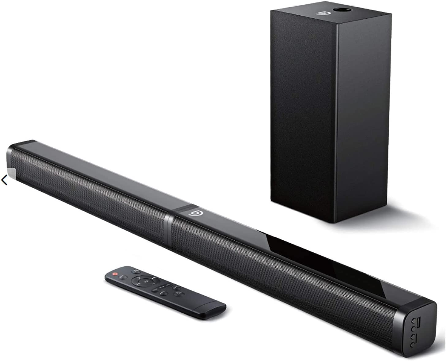 Sound Bar with Subwoofer, Bomaker Ultra-Slim 2.1 CH Sound Bars for TV, 100W/110dB, 5 EQ Modes, 31 Inch, Works with 4K & HD & Smart TV, Bluetooth 5.0 Enabled, LED Display, Outdoor Surround Sound