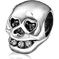 JMQJewelry Skull Halloween Heart Birthstone Love Charm Beads Charms For Bracelets
