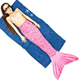 Play Tailor Mermaid Tail Swimmable Costume Swimsuit for Girls Swimming