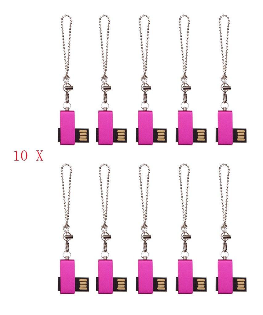 FEBNISCTE 100pcs Promotional Gift 2GB Mini Metal Swivel USB 2.0 Memory Stick