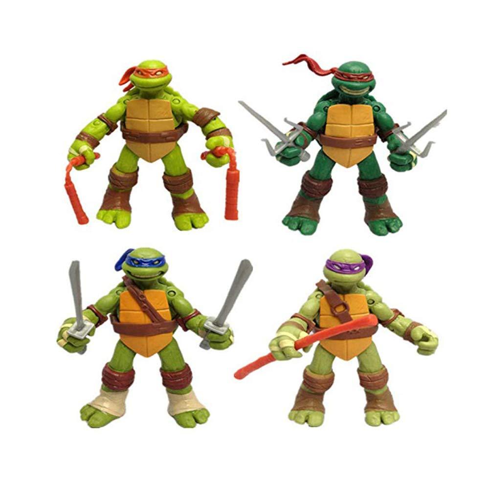 CHANG 4 PCS 12CM / 4.7 \Teenage Mutant Ninja Turtles TMNT ...