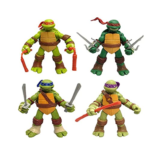 CHANG 4 PCS 12CM / 4.7 \Teenage Mutant Ninja Turtles TMNT ...