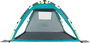 KingCamp Beach Sun Shelter UPF 50+ Family Camping Tent for 4-Person with Detachable Three Side Walls