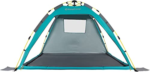 KingCamp Beach Sun Shelter UPF 50 Family Camping Tent for 4-Person with Detachable Three Side Walls