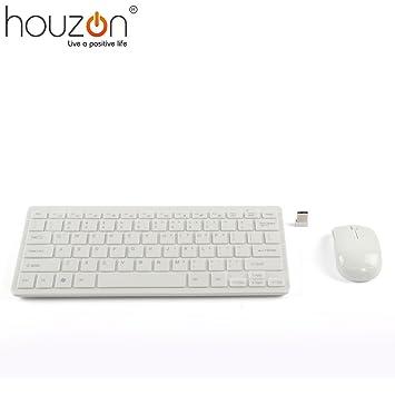 HOUZON® Mini Teclado y Ratón Inalámbricos 2.4G Para PC Portátil: Amazon.es: Electrónica