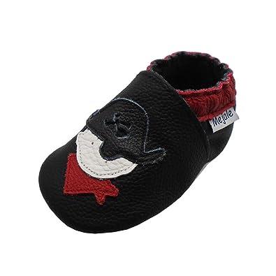 77d751d61f1ab Mejale Chaussons Cuir Souple Chaussures Cuir Souple Chaussons Enfants  Pantoufles Chaussures Premiers Pas Dessin animé Pirate