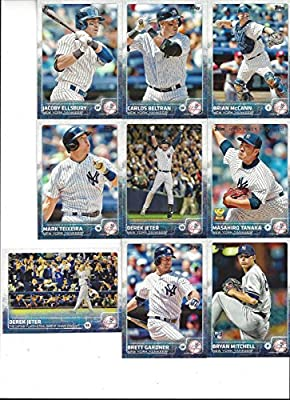 New York Yankees 2015 Topps Baseball Regular Issue Series 1 and 2 Complete Mint 23 Card Team Set Including Masahiro Tanaka, 2 Derek Jeter Cards 1 and 319 Plus Others