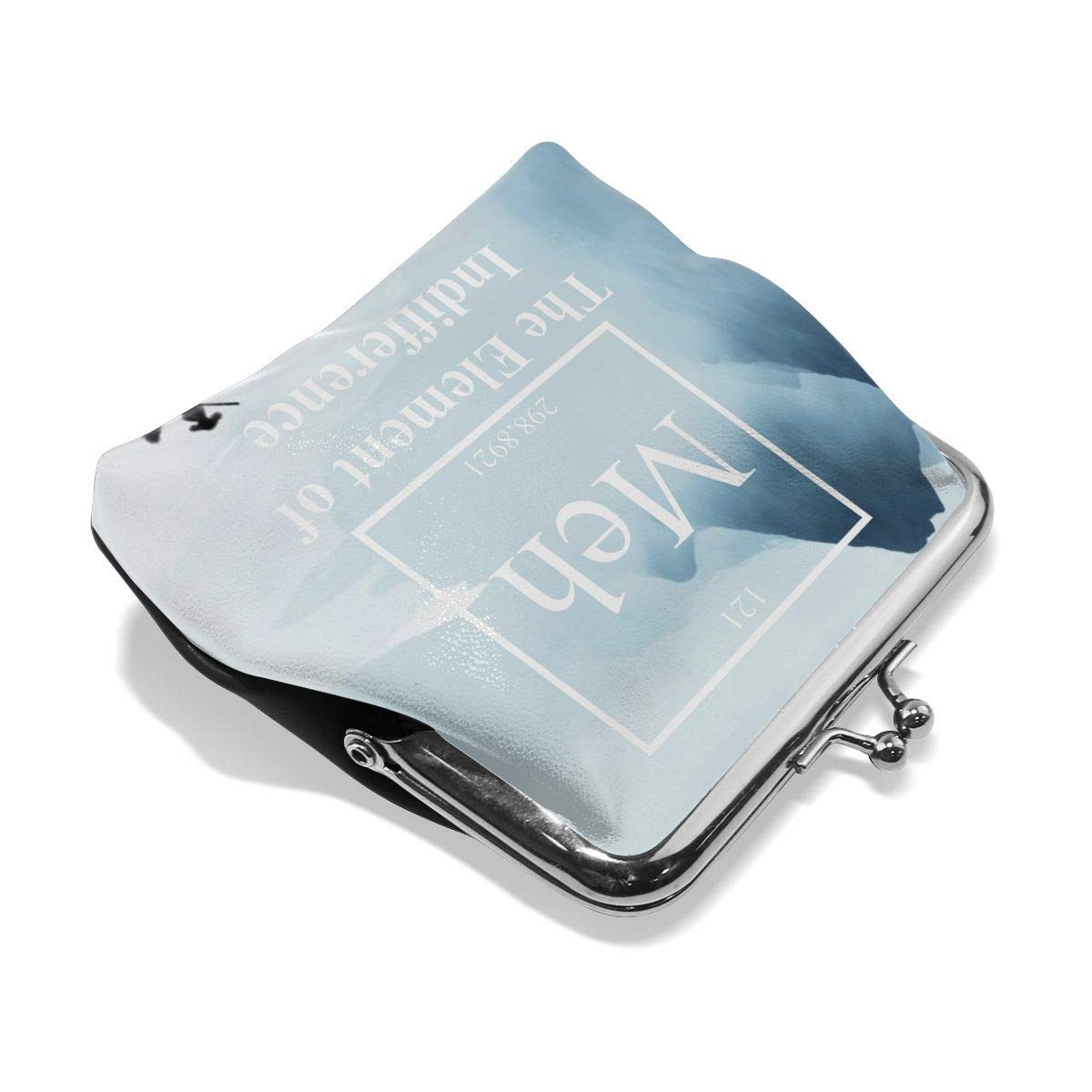 Floral Funny Sarcastic Chemistry Meh Element Cash Buckle Coin Purse For Womens