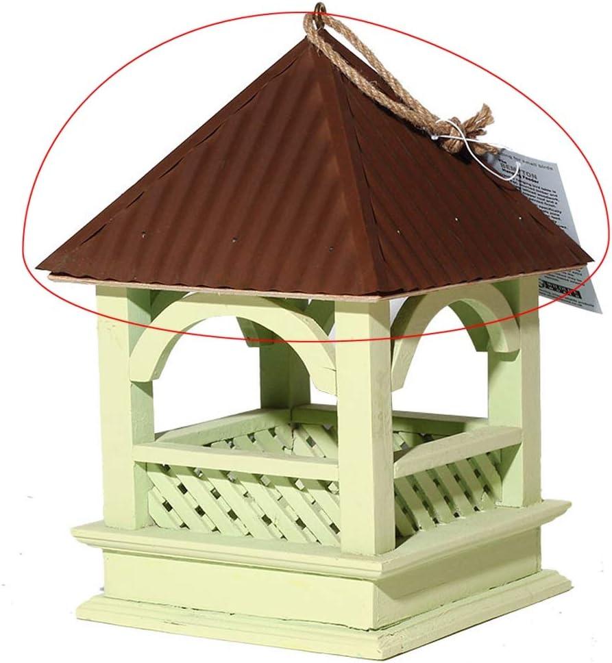 TLMYDD El alimentador Cubierto de Madera del pájaro/la Taza al Aire Libre de la Comida de pájaro de la ejecución/la Anti-caída y la Lluvia Gran Capacidad diseñan Comedero para pájaros