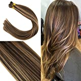 Youngsee 14 Inches Piano Color I Tip Hair Extensions Dark Brown Mixed