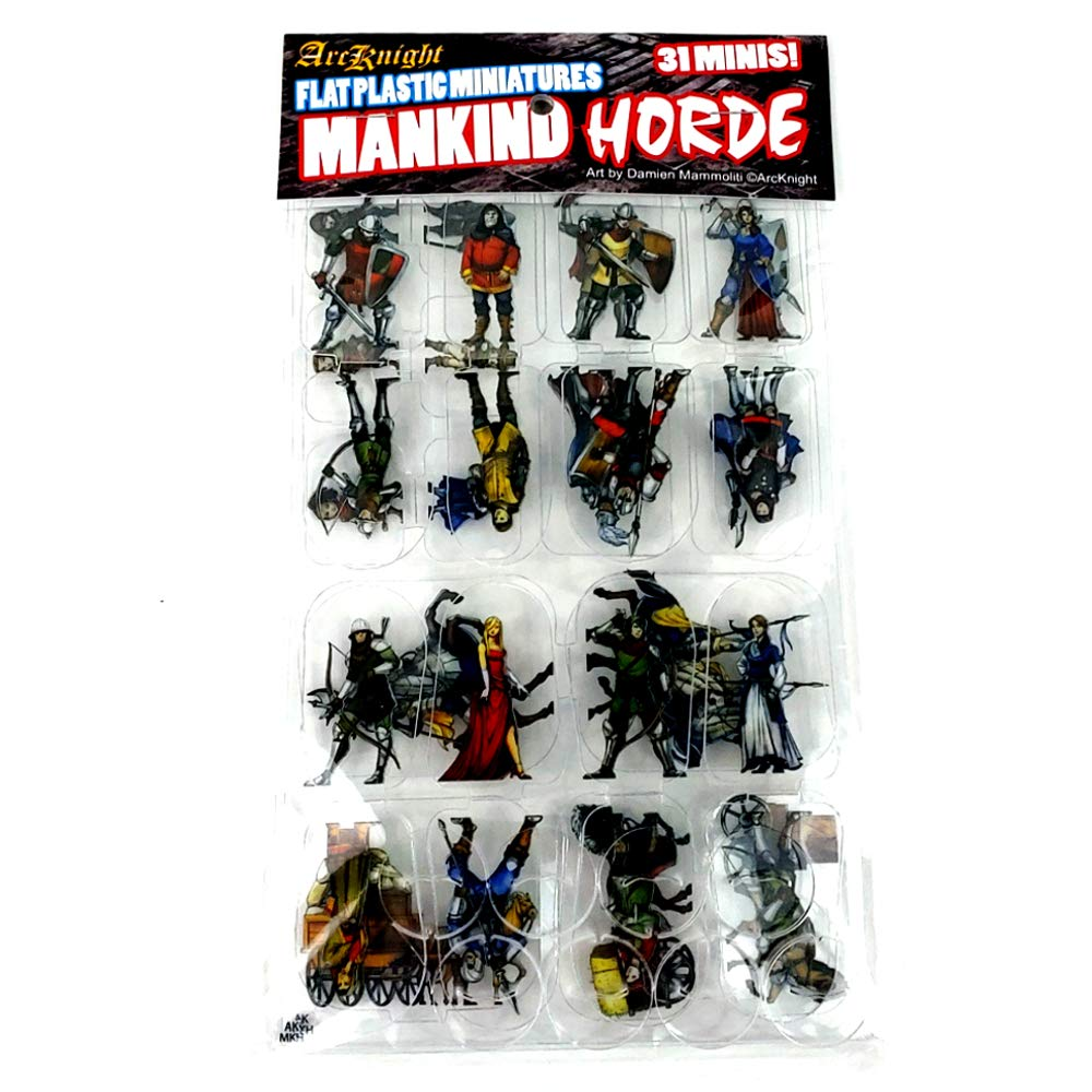 Arcknight Flat Plastic Miniatures: Mankind Horde