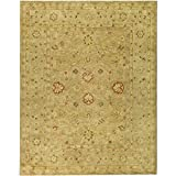 Safavieh Antiquities Collection AT822B Handmade Traditional Oriental Brown and Beige Wool Area Rug (7'6'' x 9'6'')