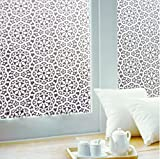 Coavas Flower Decorative Non-Adhesive Frosted Privacy Window Film - Best Reviews Guide