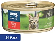 Amazon Brand - Wag Wet Cat Food 5.5 oz (Pack of 24)