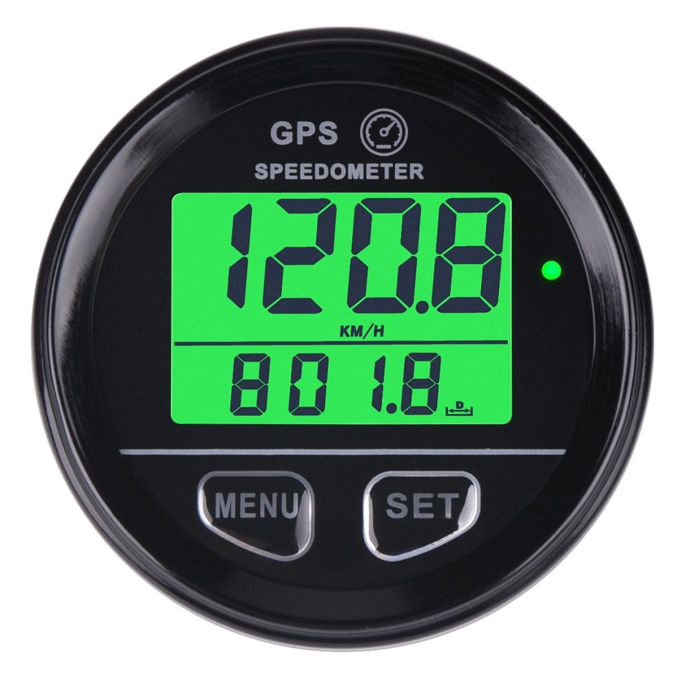 SEARON GPS Speedometer MPH/KPH Digital Speed Meter Counter Waterproof with High Speed Recall for ATV UTV Motorcycle Automobile Motor Vehicle