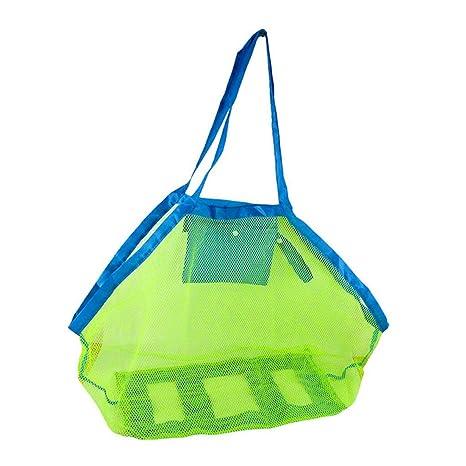 Desconocido Bolsa de Malla Plegable Grande para niños/Red de Playa para niños/Bolsa de Almacenamiento/Bolsa de Asas