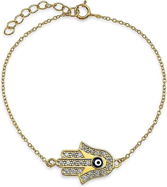 30pcs Tiny Turkish Hamsa Hand Charms Pendant for Necklace Bracelet Making