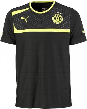 PUMA - Camiseta de fútbol Sala Infantil, tamaño 140 UK, Color Amarillo/Negro: Amazon.es: Ropa y accesorios