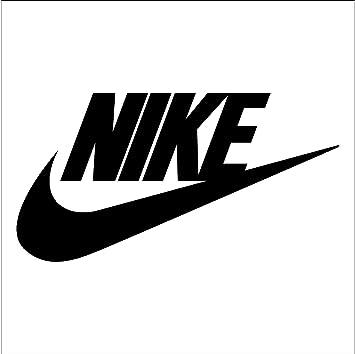 amazon com nike logo vinyl sticker decal 6 black automotive rh amazon com Nike Air Flight Classic Nike Air Jordan Logo