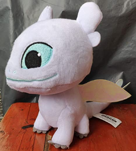 153436ef877 Image Unavailable. Image not available for. Color  Monai White Toothless  Light Fury 1 2 How to Train Your Dragon 3 ...
