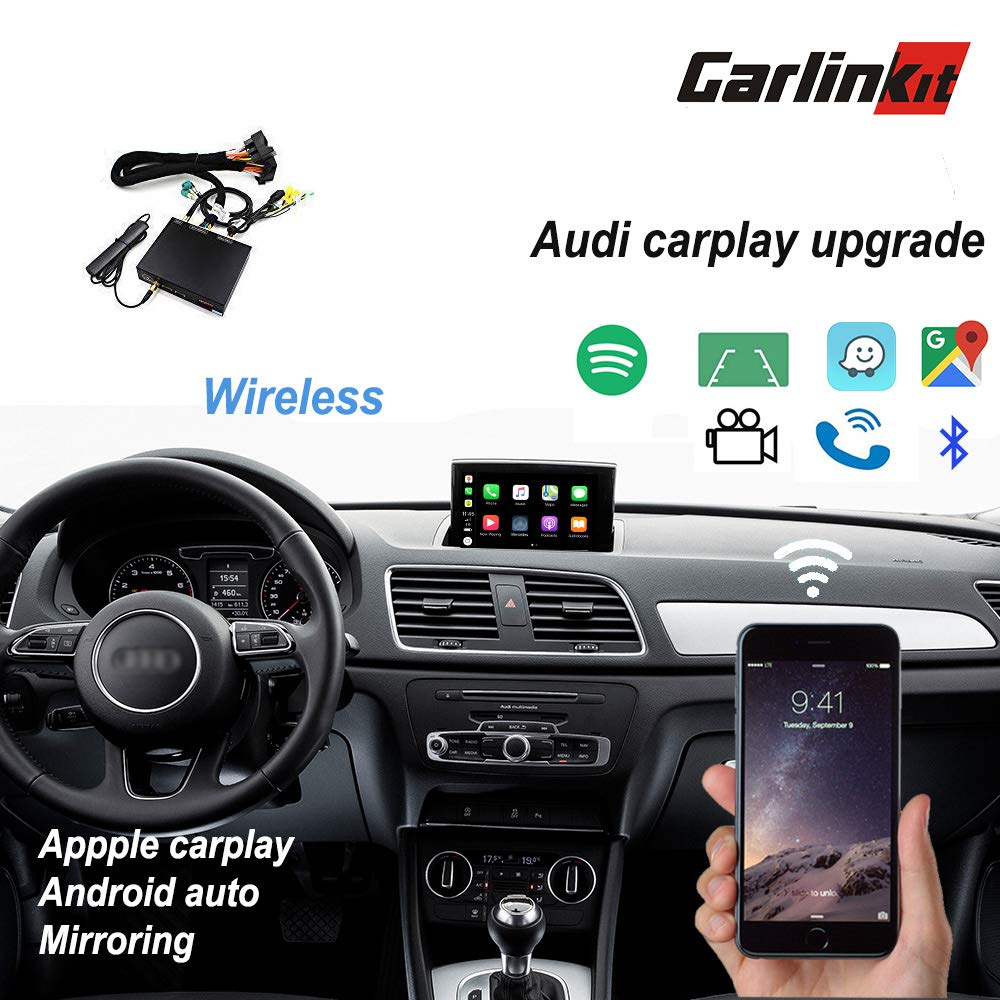 09-18 Original Screen Stereo Upgrade with iOS 12 Carlinkit Wireless Carplay Android Auto Receiver Box for Audi A3//A4//A5//A6//A7//A8//Q5//Q7//S5
