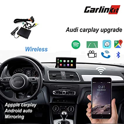 Carlinkit Wireless Apple Carplay Receiver Box for Audi A3/A4/A5/A6/A7/Q5/  (09-18) Original Screen Stereo carplay Upgrade,Support mirroring,Reverse