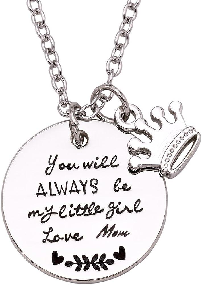 Melix Home Stainless Steel Youll Always Be My Little Girl Bangle Bracelet