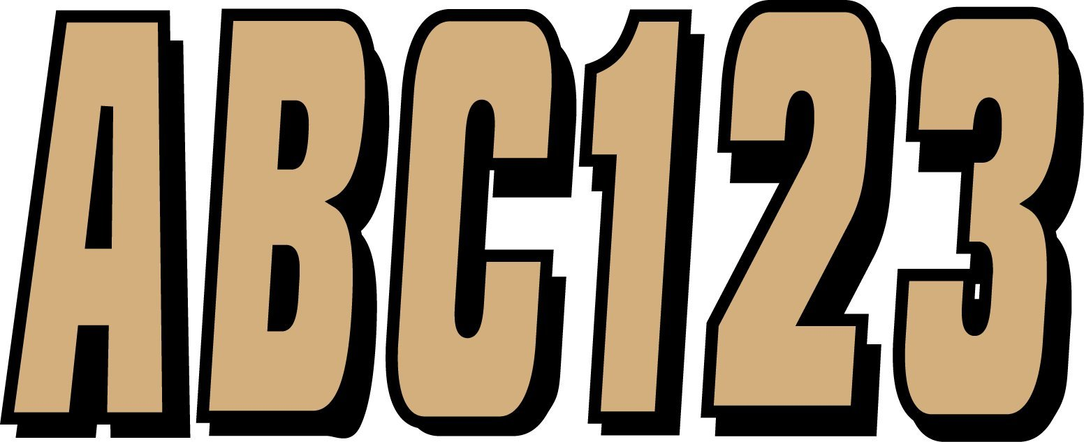Hardline Products Series 320 Factory Matched 3-Inch Boat & PWC Registration Number Kit, Brown/Black