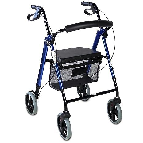 Mobiclinic Andador para Ancianos de 4 Ruedas | Rollator para Mayores | Plegable | Incluye Cesta