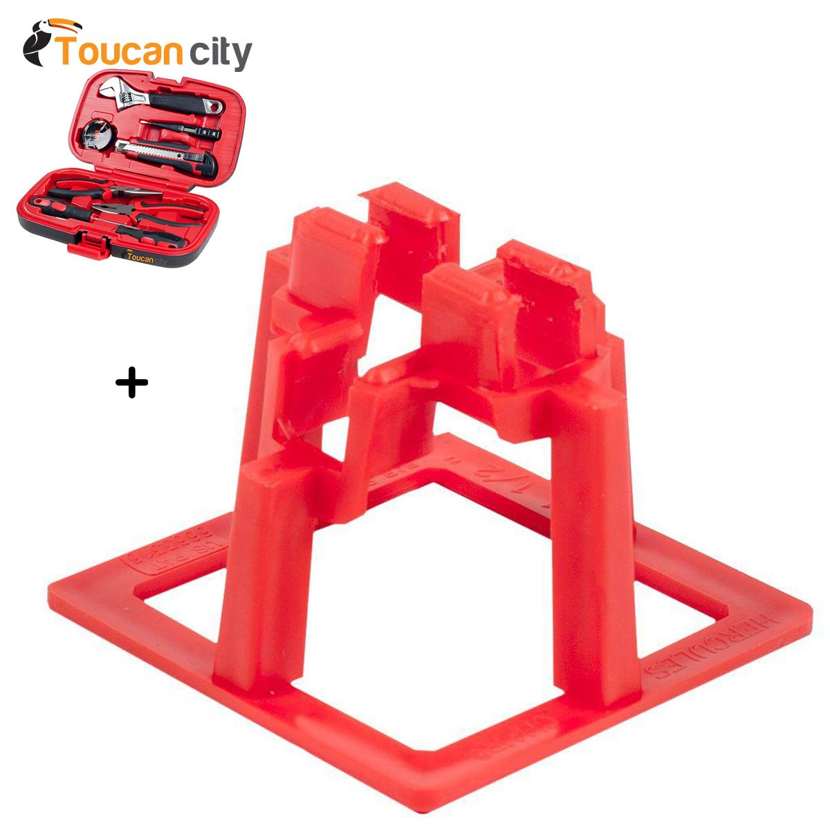 Toucan City Tool Kit (9-Piece) and Hercules 1-1/2 in. Rebar Chair (50-Pack) 911