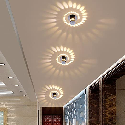 Design murale éclairage de couloir projecteur salon chambre luminaire spot Mur Lampes bleu chrome