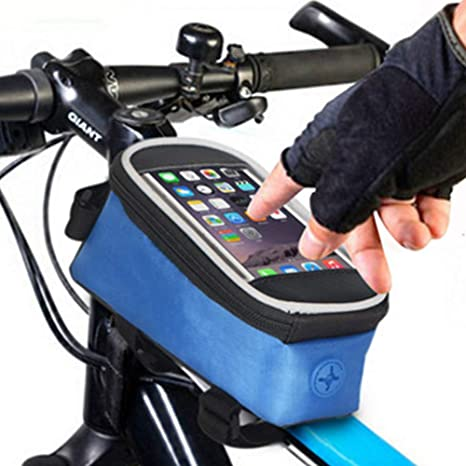SWEET Alforja de Ciclismo con Marco de Tubo Delantero - Accesorios para Soporte para teléfono de Bicicleta Bolsa con Pantalla táctil Manillar de Bicicleta: Amazon.es: Deportes y aire libre