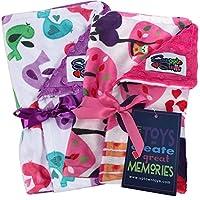 Baby Girl Reversible Minky Velboa Burp Cloth 2 Pack Gift Set