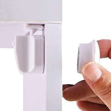Cerradura Magnética Invisible de Cunina Para Cerraduras de Puertas Para Armario Cajones Puertas Para Proteger a su Bebé de Accidentes o Apretones 4 ...