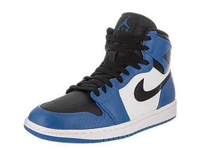 1eda3e253d4b Jordan Nike Mens Air 1 Retro High Basketball Shoe Soar Black-White 9