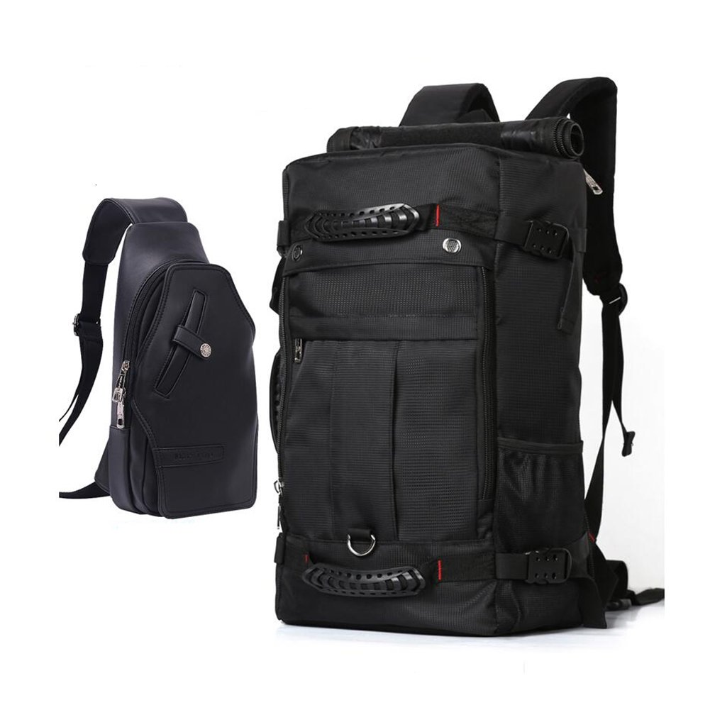 SUN High Capacity Backpack And Chest Bag Combination Business Travel Outdoor Sports Mountaineering Bag Hiking