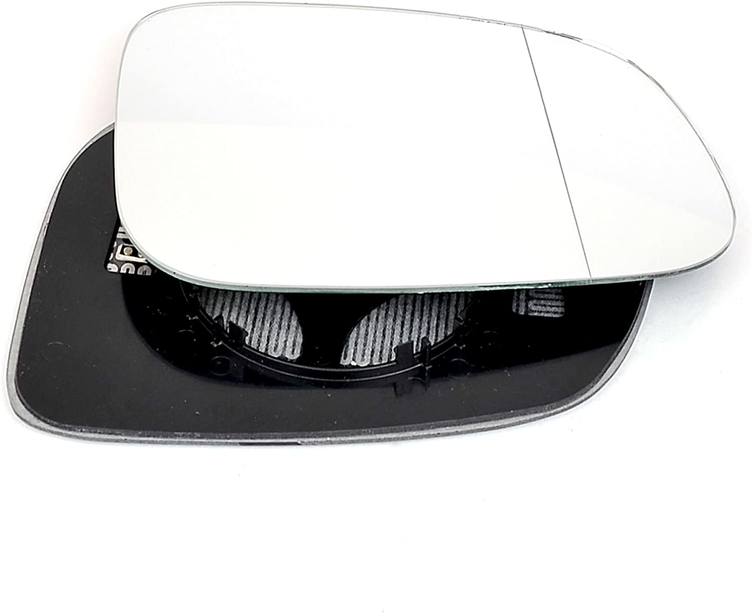 Driver right hand side Heated wing door Silver mirror glass with backing plate #W-SHY//R-VOS4007 Clip On