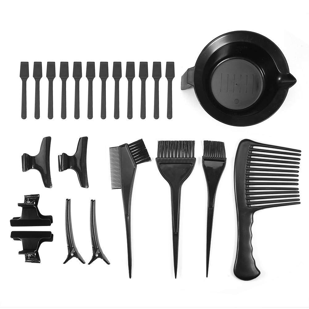 Rotekt 23Pcs/Set Hair Color Mixing Bowl Hair Dyeing Comb Brushes Clips Spatulas Hair Coloring Tools by Rotekt