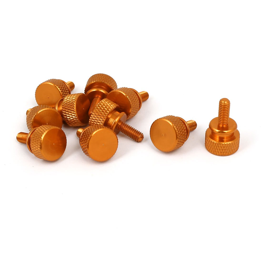 uxcell Computer PC Case M4x10mm Shoulder Type Knurled Thumb Screw Orange 10pcs