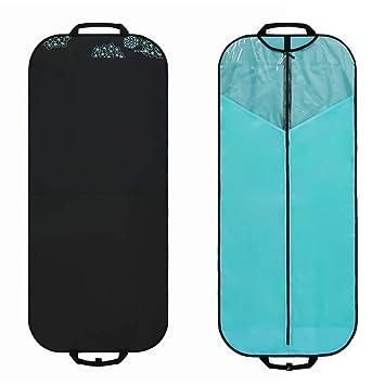 BAGSMART Bolsa de Ropa Mujer Trajes Bolsa para Vestido de Noche, Chaqueta de Invierno, Boda, Colgada en el Armario, Larga (137 x 55 cm), Azul