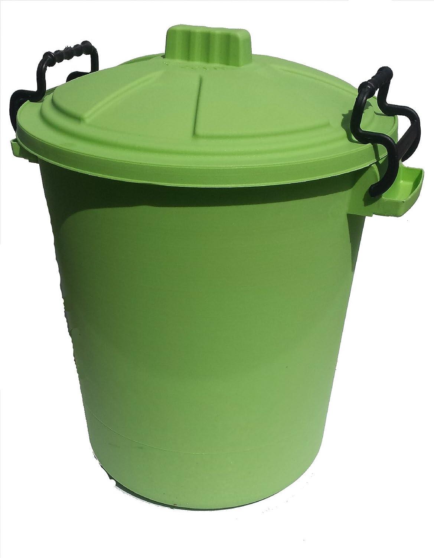 50L PLASTIC HANDLE LIME GREEN Garden Storage Dustbin Bin 50 Litre Refuse HEAVY DUTY