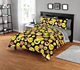 Emoji Comforter Set Twin Emoji Pals 7 Comforter Set, Yellow, 63