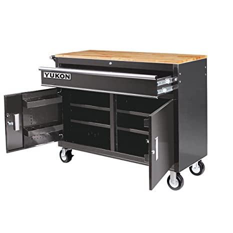 Magnificent 46 In Mobile Storage Cabinet With Wood Top Tool Cart Workbench Ibusinesslaw Wood Chair Design Ideas Ibusinesslaworg