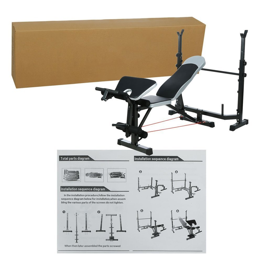 Leoneva 660Lbs Multi-Function Adjustable Weight Benches Proffesional Fitness Home Workout Bench With Preacher Curl/ Leg Developer/ Crunch Handle by Leoneva (Image #7)