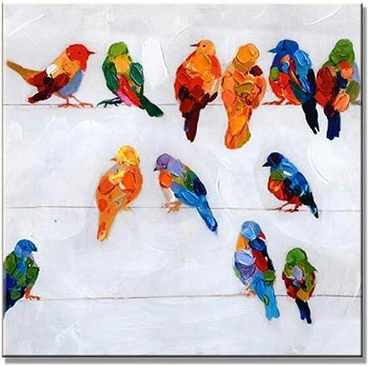 Parrots Art Deco Style Colourful Parakeet Parrot Home Decor Art Poster Print