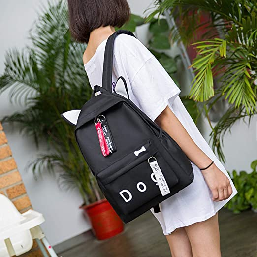 Amazon.com | JJLIKER ❤ Women Canvas Backpack, Dog Letter Fasgion Lovely School Shoulder Bag | Kids Backpacks