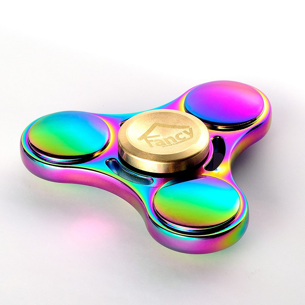 Fancy Home Titanium EDC Quiet Tri Fidget Hand Spinner 5-8 Minutes Anxiety and Stress Relief Toy for ADD ADHD Colorful Rainbow Blue by Fancy Home (Image #8)