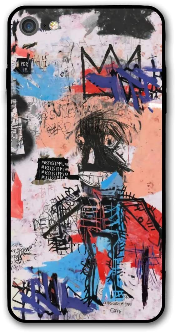 Jean-Michel Basquiat Phone Cases for iPhone 7 or Apple 8 Shell Back Soft Cell Mobile Cover Case with TPU+PC Frame